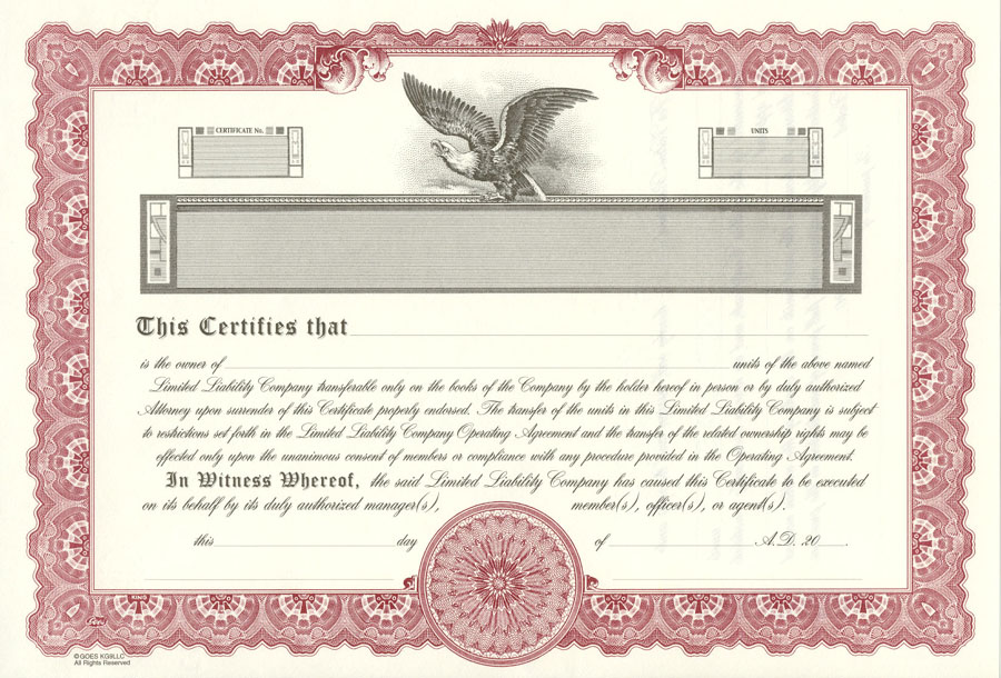 Lawyers Stationery Certificates Since 1911 – Blank Stock Certificate Template