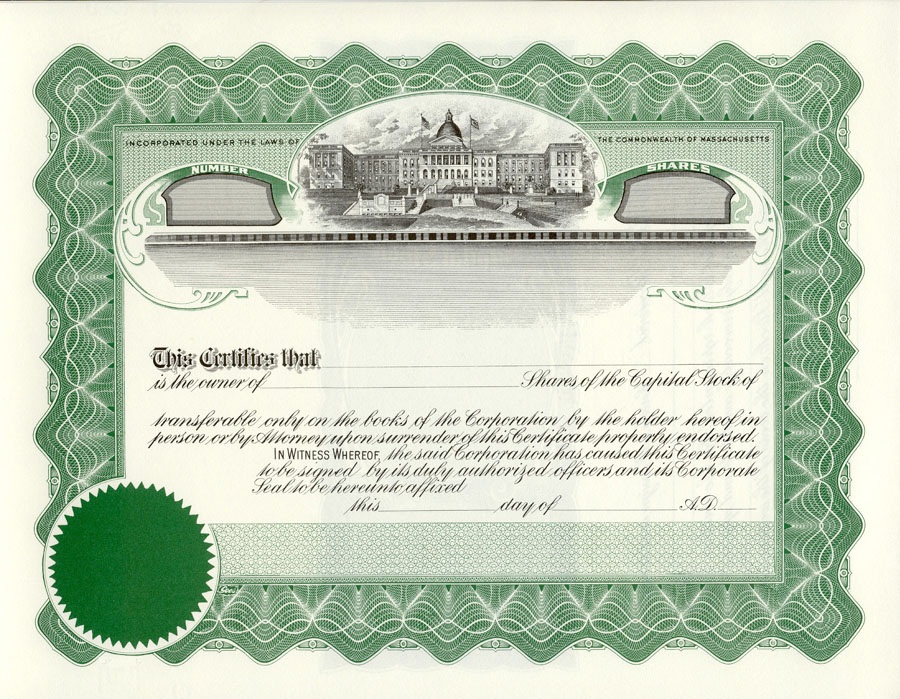 Lawyers Stationery Stock Certificates Since 1911