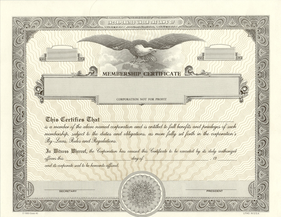 Lawyers Stationery Stock Certificates Since - Attorneys corporation service stock certificate template